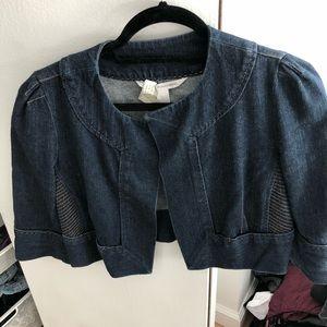DVF cropped Jean jacket